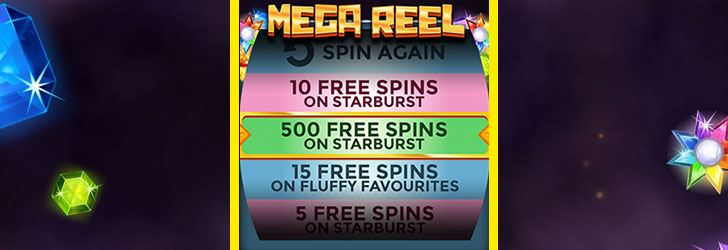 123 Spins: up to 500 Free Spins!