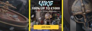Viks Casino: 100% match up to ?/$/€1000